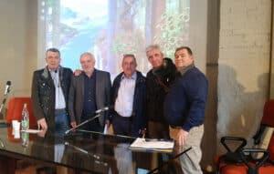 I relatori: Ilari, Caramanti, D'Agostino, Pierantoni, Metalori
